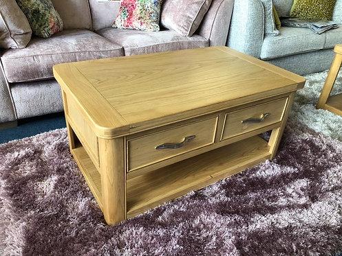 Cadiz Oak 2 Drawer Coffee Table