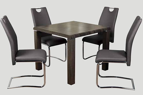 Encore Charcoal Dining Set & Claren Grey Chairs