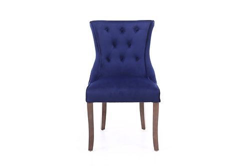 Delsey Dining Chair with Walnut Legs
