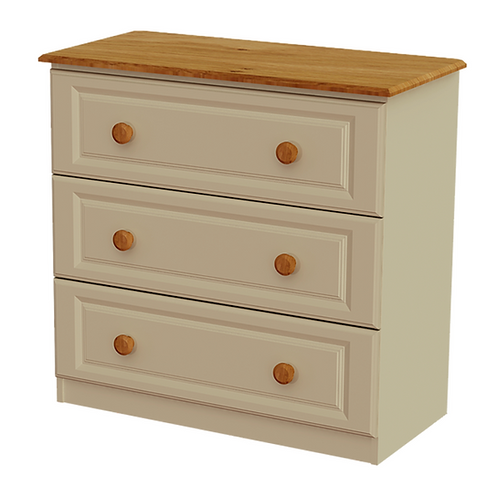 Annagh Ivory 3 Drawer Deep Chest