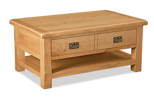 Salisbury Large Coffee Table + Drawers    G2127