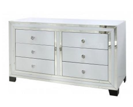 White Manhattan 6 Drawer Cabinet