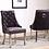 Thumbnail: Knightsbridge French Velvet Knocker Back Dining Chair