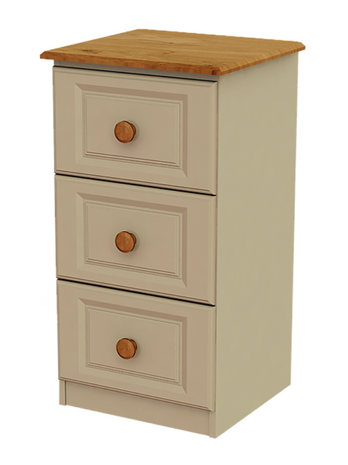 Troscan 3 Drawer Deep Bedside Locker