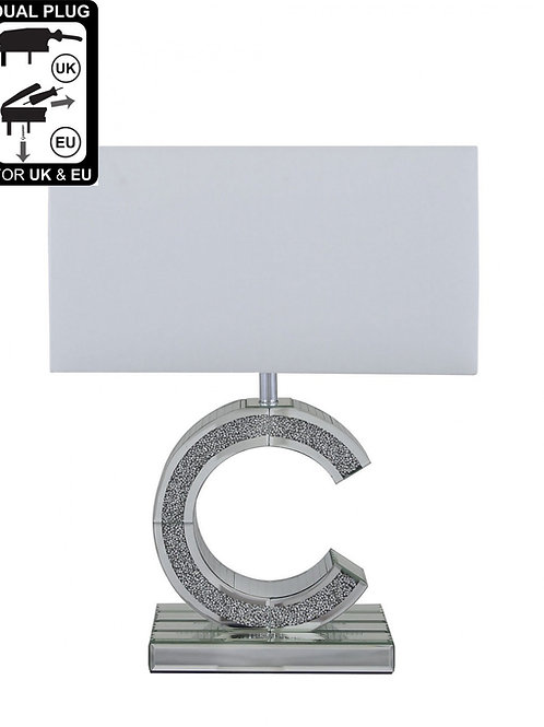 Milano 'C' lamp with 17 inch shade