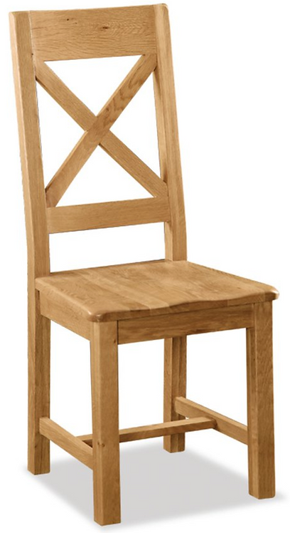 Salisbury Cross Back Chair with Wooden Seat G2141