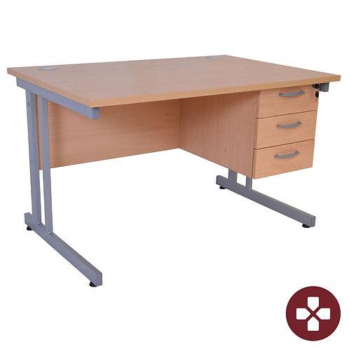 Focus Single Pedestal Desk