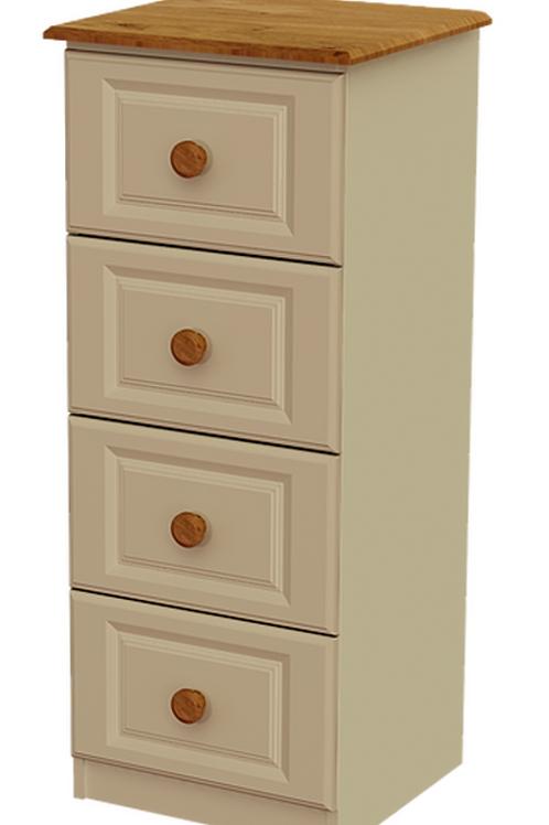 Annagh Ivory 4 Drawer Deep Bedside Locker