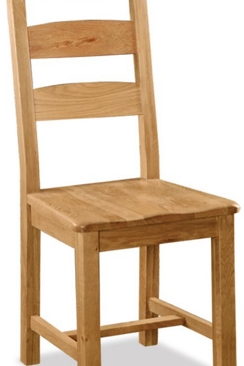 Salisbury Slatted Chair with Wooden Seat G2143