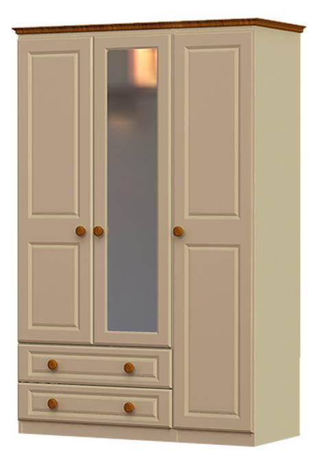 Troscan 3 Door 2 Drawer 1 Mirror Robe