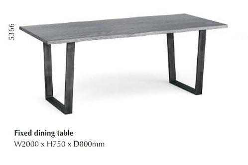 Brooklyn Fixed 2m Dining Table