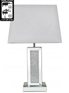Milano Small Pillar Lamp - 17 inch White Shade