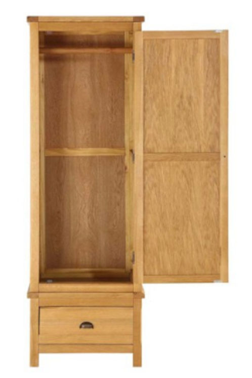 Glenbrook Oak 1 Door Wardrobe