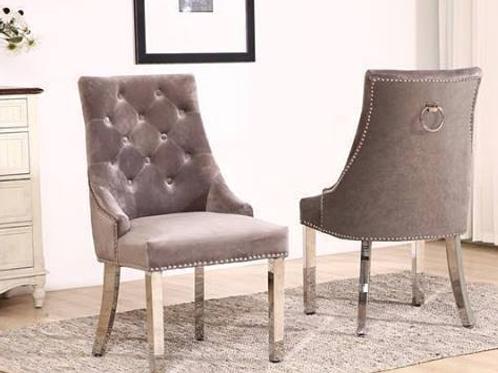 Knightsbridge French Velvet Knocker Back Dining Chair