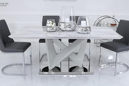 CIMC Amara Dining Table & 6 Chevron Chairs
