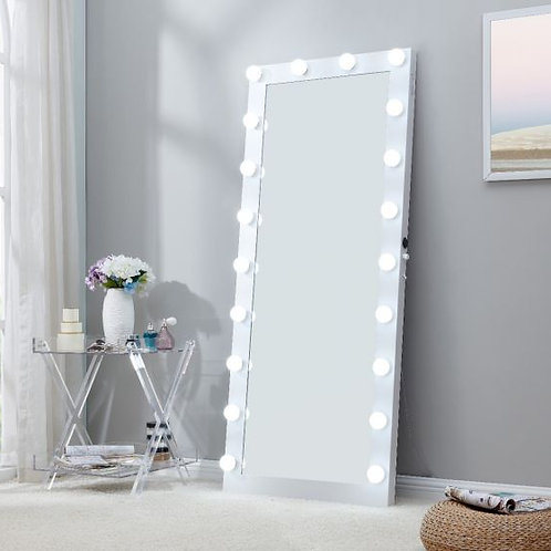 Large White Hollywood Mirror