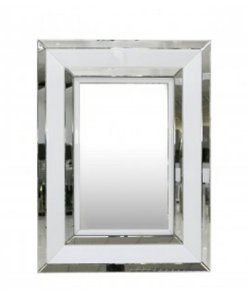 White Manhattan Wall Mirror