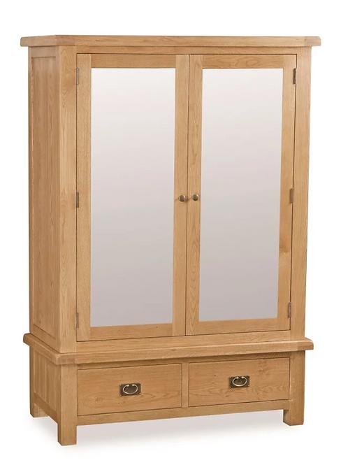 Salisbury Wide Mirror Wardrobe G2188