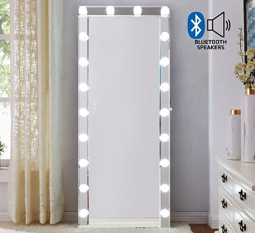 Large Clear Hollywood Mirror with Bluetooth