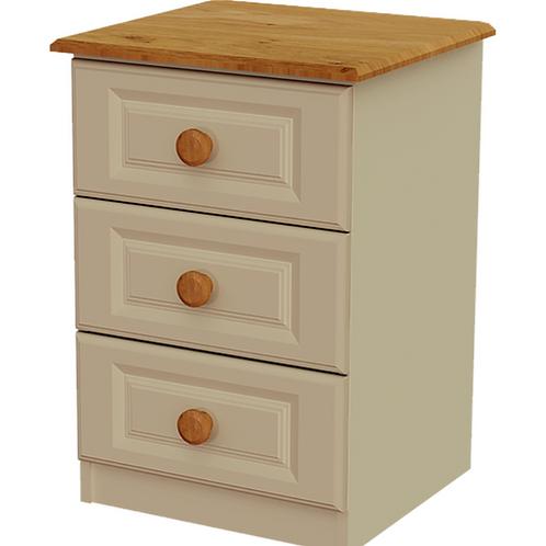 Troscan 3 Drawer Bedside Locker