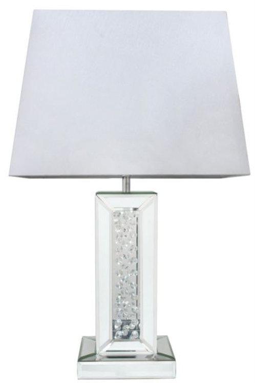Astoria Mirror Rectangular Table Lamp - 17 inch