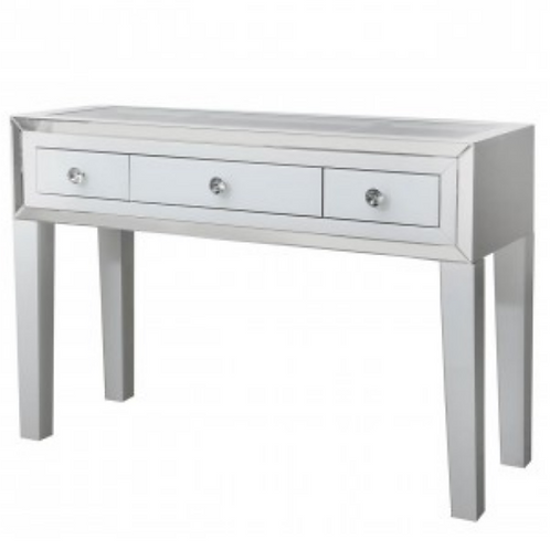 White Manhattan 3 Drawer Dressing Table