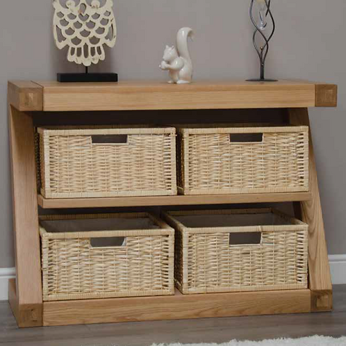 Z Range Basket Console Table