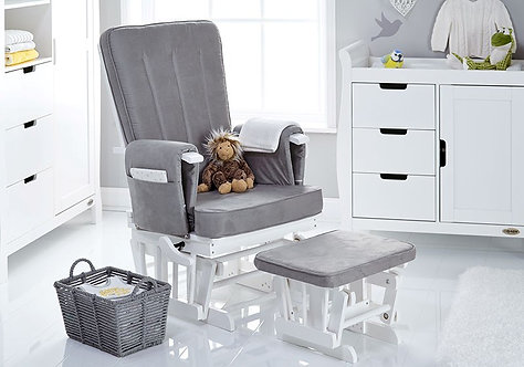 Deluxe Reclining Glider Chair & Stool