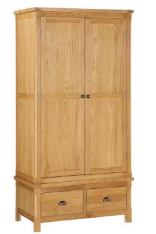 Glenbrook Oak 2 Door Wardrobe