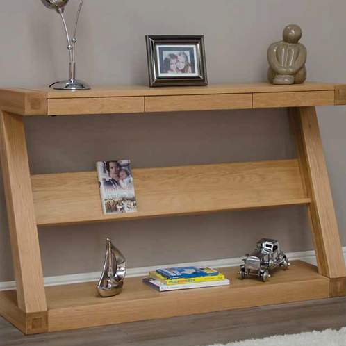 Wide Console with Shelf