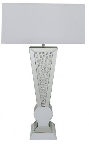 Astoria White V-Shaped Table Lamp