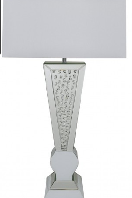 Astoria White V-Shaped Table Lamp