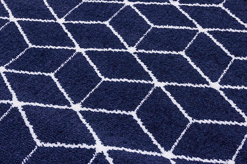 Ambience Rugs - Cube Navy