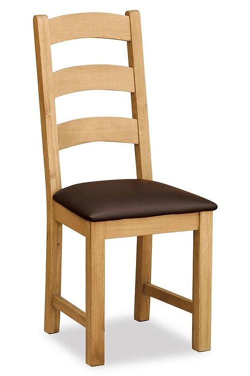 Salisbury Ladder Back Chair with PU Seat G1191