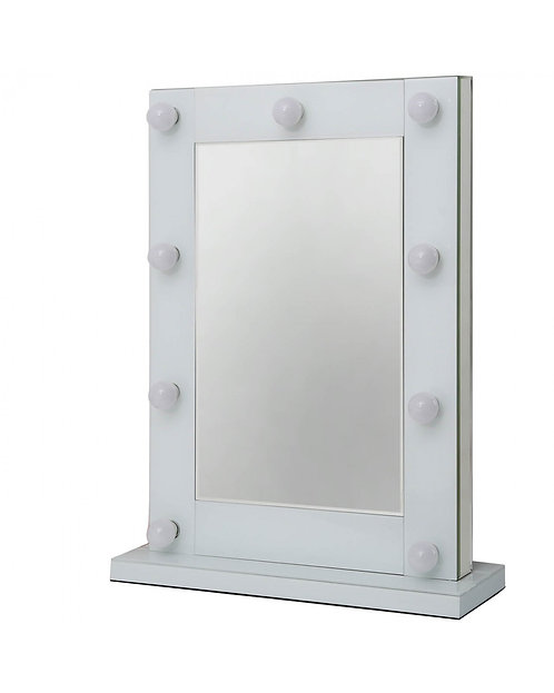 CIMC Manhattan White 9 Bulb Hollywood Mirror