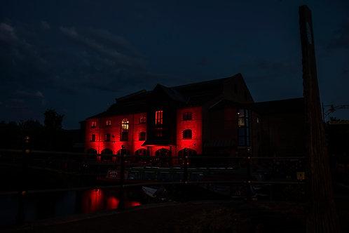 Theatr Brycheiniog Glowing Red