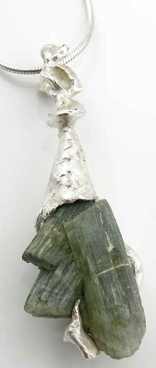 Organic Green Tourmaline Pendant