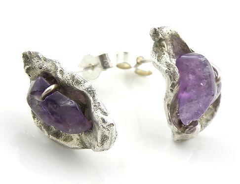 Organic Amethyst Earrings