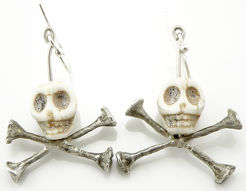 Skull and Cross Bones Earrings