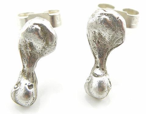 Small Organic Drop Earrings