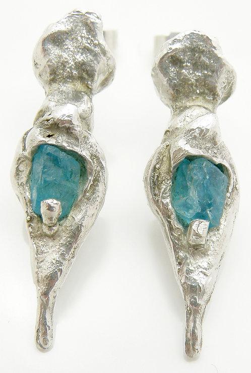 Organic Apatite Earrings