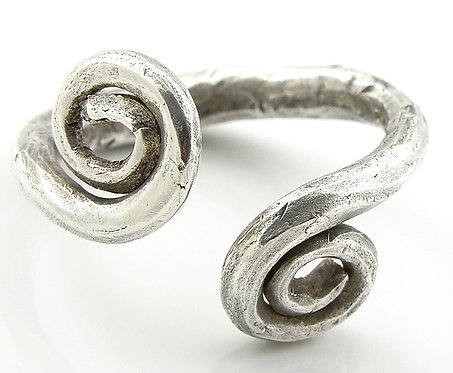 Celtic Forged Spiral Ring