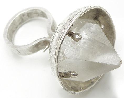 Large Apophyllite Crystal Ring