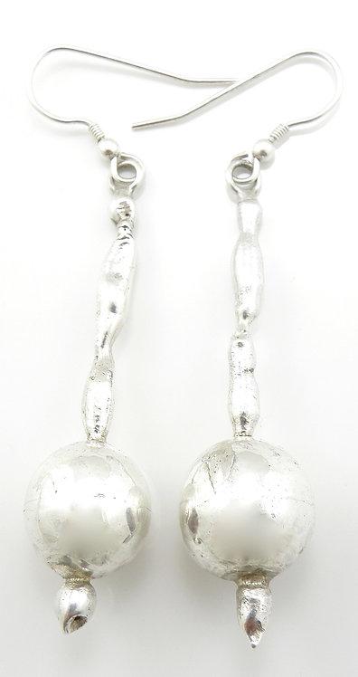 Drop Sphere Earrings