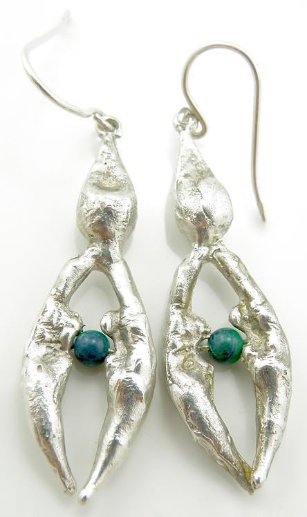 Organic Oval Earrings