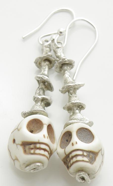 Organic Skull Earrings