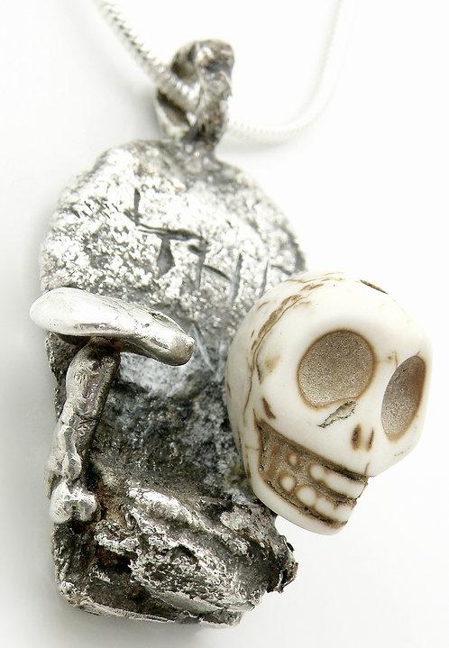 Tombstone Skull Pendant