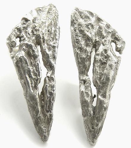Triangular Textured Earrings