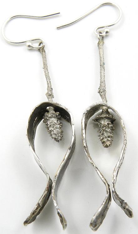 Shaped Mokume-Gane Earrings