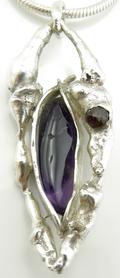 Amethyst and Garnet Pendant